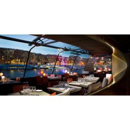 Croisière Diner (20h30) Service découverte Bateaux Parisiens + Restauration, Paris
